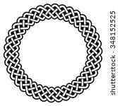 celtic round frame  border...   Shutterstock .eps vector #348152525