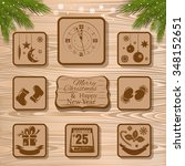 christmas vector icons... | Shutterstock .eps vector #348152651