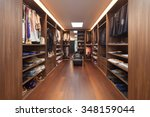 wide dressing room  interior of ... | Shutterstock . vector #348159044