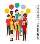 people thinking design  vector... | Shutterstock .eps vector #348160319