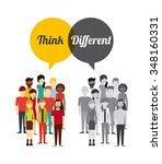 think diferent design  vector... | Shutterstock .eps vector #348160331