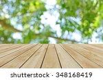 perspective wood and bokeh... | Shutterstock . vector #348168419