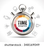 stopwatch   time management... | Shutterstock .eps vector #348169049