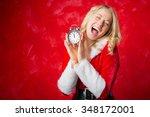 woman celebrating new... | Shutterstock . vector #348172001