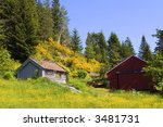 old hut and barn in the... | Shutterstock . vector #3481731