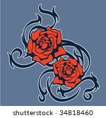 Roses With Tribal Element