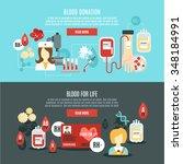 blood donor horizontal banner... | Shutterstock .eps vector #348184991