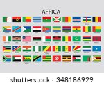 africa flag collection | Shutterstock . vector #348186929