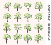 Stylized Vector Tree Collectio...