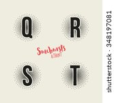 q r s t sunbursts effect... | Shutterstock .eps vector #348197081