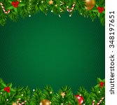 christmas poster with gradient... | Shutterstock .eps vector #348197651