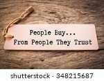 the phrase people buy from... | Shutterstock . vector #348215687