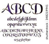decorative font | Shutterstock .eps vector #348219941