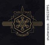 snowflake winter christmas... | Shutterstock .eps vector #348223991
