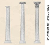 classical ellinic architectural ... | Shutterstock .eps vector #348224021