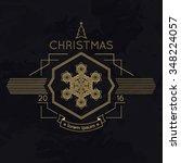 snowflake winter christmas... | Shutterstock .eps vector #348224057