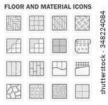 floor and material vector icons ... | Shutterstock .eps vector #348224084