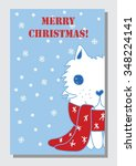 collection of  christmas cat... | Shutterstock .eps vector #348224141