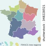 france map  new regions   Shutterstock . vector #348228521