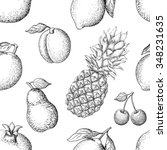 vector seamless pattern with...   Shutterstock .eps vector #348231635