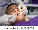 young asian boy during dental... | Shutterstock . vector #348238691
