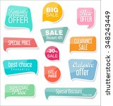 modern design sale labels and... | Shutterstock .eps vector #348243449