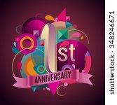 1st  years anniversary wreath... | Shutterstock .eps vector #348246671