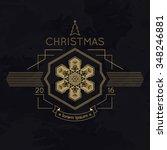 snowflake winter christmas... | Shutterstock . vector #348246881