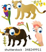 collection of cute cartoon... | Shutterstock .eps vector #348249911