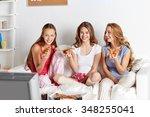 friendship  people  pajama... | Shutterstock . vector #348255041
