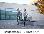fitness  sport  people and... | Shutterstock . vector #348257774