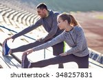 fitness  sport  exercising and... | Shutterstock . vector #348257831