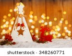 small wooden christmas tree... | Shutterstock . vector #348260771