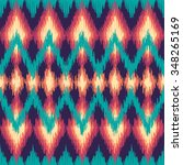 vector colorful seamless ikat... | Shutterstock .eps vector #348265169