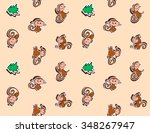 2016  year of monkey. cartoon... | Shutterstock .eps vector #348267947