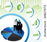 business people | Shutterstock .eps vector #34827073