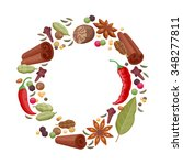 spices and herbs icons round...   Shutterstock .eps vector #348277811