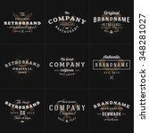 set of hipster vintage labels ... | Shutterstock .eps vector #348281027