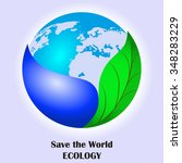 save the world . ecology. water ... | Shutterstock .eps vector #348283229