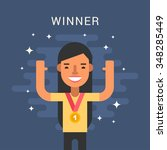 sport concept illustration.... | Shutterstock .eps vector #348285449