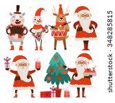 Cartoon Christmas Characters...