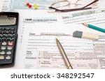 u.s. individual income tax... | Shutterstock . vector #348292547