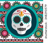 mexico concept with landmarks... | Shutterstock .eps vector #348293579