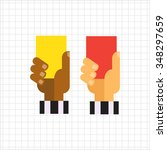 vector icon of referee hands... | Shutterstock .eps vector #348297659