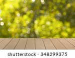 wooden floor with blur natural... | Shutterstock . vector #348299375