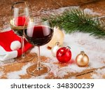 Xmas Red And White Wine