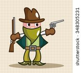 cowboy theme elements vector eps | Shutterstock .eps vector #348305231