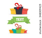 gifts for a holiday  is well... | Shutterstock .eps vector #348309425