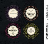 set of elegant labels with... | Shutterstock .eps vector #348313211