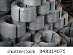 iron wire in roll  | Shutterstock . vector #348314075